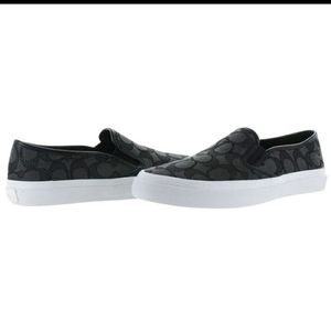 Coach Chrissy logo canvas sneakers gray/white